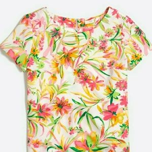 J. Crew Factory Large Floral Spring Blouse Top